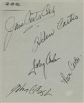 "Country Music Family: Cash Family Signed 8"" x 10"" Album Page w/ Johnny, June & Others (Beckett/BAS Guaranteed)"