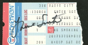Frank Sinatra Signed c.1980s Concert Ticket (Beckett/BAS Guaranteed)