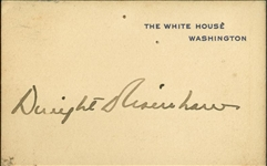 Dwight D. Eisenhower Rare Signed White House Card (Beckett/BAS Guaranteed)
