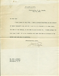President William H. Taft Signed 1921 Typed Letter (Beckett/BAS Guaranteed)