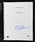 "Chevy Chase Signed ""Christmas Vacation"" Script (BAS/Beckett)"