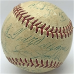 1956 AL All-Stars Multi-Signed OAL Baseball w/ Williams, Mantle, Fox, Berra & Others (PSA/DNA)