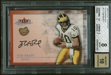 2000 Fleer Traditions #17 Tom Brady Signed Rookie Card w/ BGS GEM MINT 10 Auto!