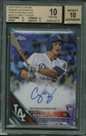 Corey Seager Signed 2016 Topps Chrome Rookie Autographs #RACS BGS Graded 10, 10!