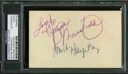 Jayne Mansfield & Mickey Hargitay Dual-Signed GPC (PSA/DNA Encapsulated)