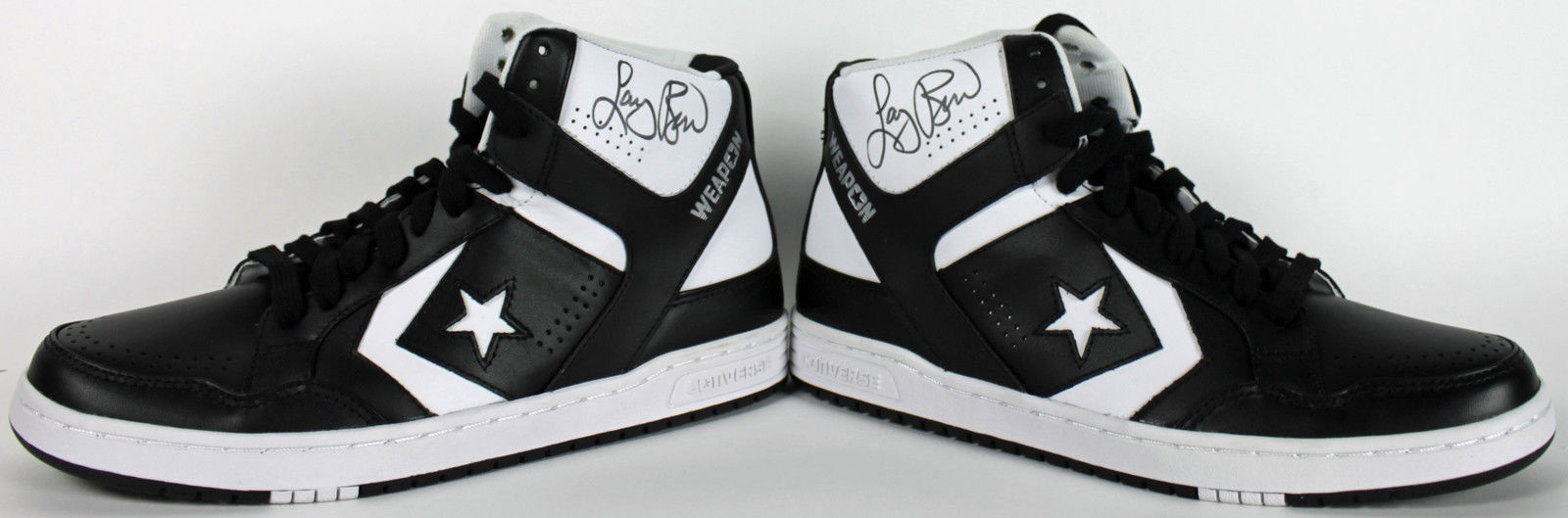 5d274e8c9a75 Larry Bird Rare Signed Converse Weapon Game Model Basketball Shoes (PSA DNA    Player ...