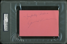 "Donatella & Gianni Versace Dual-Signed 4"" x 6"" Album Page (PSA/DNA Encapsulated)"