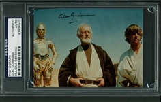 "Alec Guinness Signed 3.5"" x 5"" Color Photo as Obi Won Kanobi (PSA/DNA Encapsulated)"