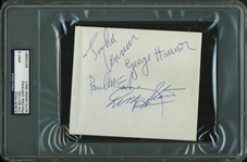 "The Beatles Signed 4.5"" x 5"" Album Page w/ McCartney, Lennon, Harrison & Starr - PSA/DNA Graded MINT 9!"