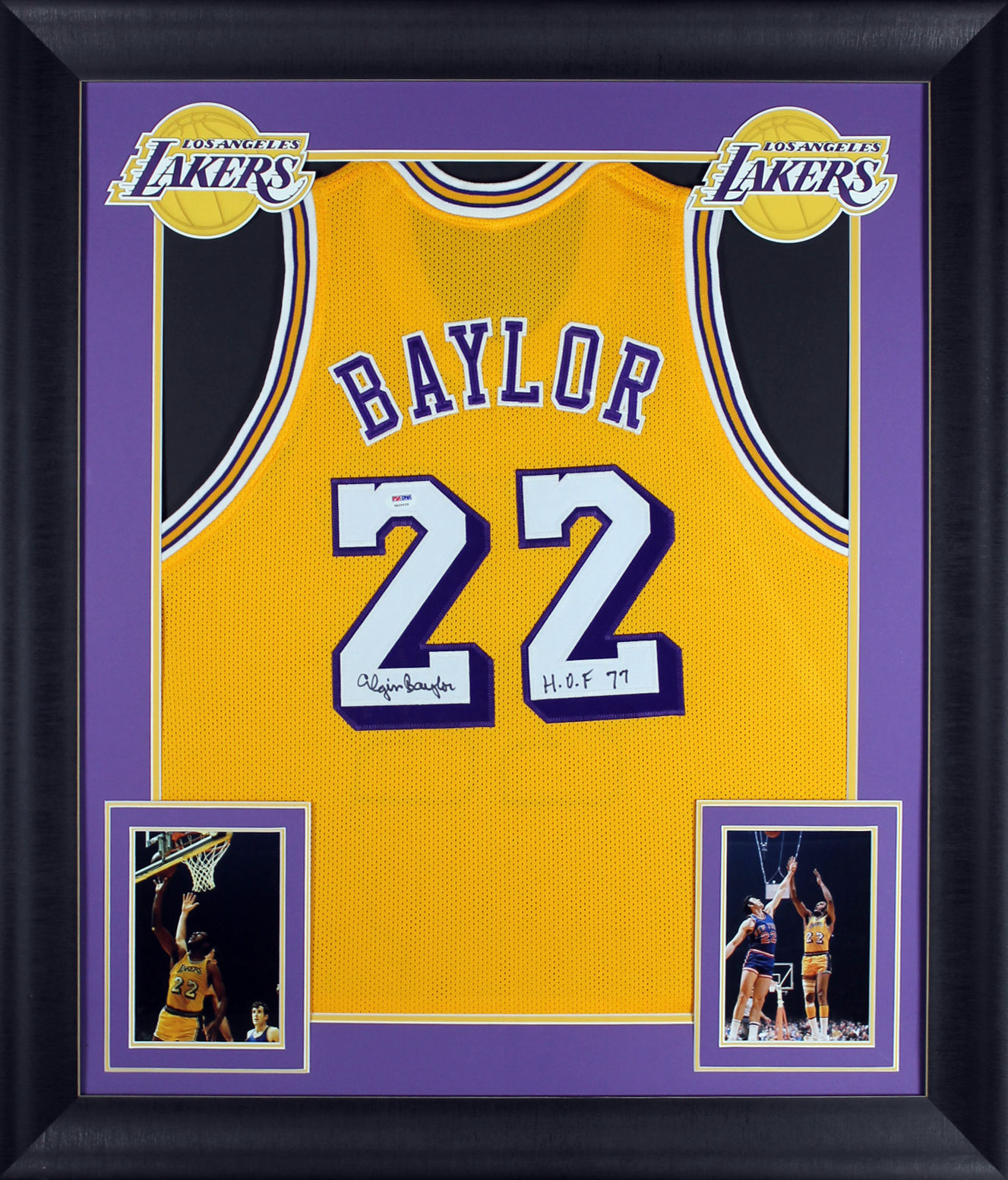 b537af8154c Elgin Baylor Signed Lakers Jersey in Custom Framed Display (PSA DNA) ...
