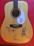 The Rolling Stones: Jagger, Richards, Wood & Watts Signed Acoustic Guitar (BAS/Beckett)