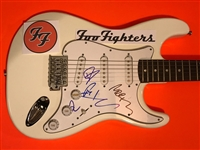 Foo Fighters Signed Strat-Style Guitar w/ Current Lineup (BAS/Beckett Guaranteed)