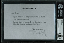 "Ben Affleck Hand Signed 5"" x 7"" Thank You Note (BAS/Beckett Encapsulated)"