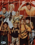 "The Brady Bunch Cast Signed 8"" x 10"" Color Photograph w/ 7 Signatures! (Beckett)"