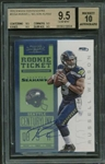 Russell Wilson Signed 2012 Panini Contenders #225A Rookie Card BGS 9.5 w/ 10 Autograph!