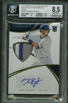 Kris Bryant Signed 2015 Panini Immaculate Collections RC Auto Patch Card BGS 8.5 w/ GEM MINT 10 Auto!