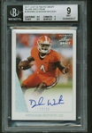 Deshaun Watson Signed 2017 Leaf Ultimate Draft Silver Spectrum Rookie Card BGS 9 w/ 10 Auto