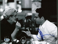 "J.J Abrams Signed 8"" x 10"" Black & White Photograph w/ George Lucas! (Beckett)"