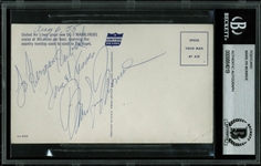 Marilyn Monroe Exceptionally Signed 1955 United Airlines Postcard (BAS/Beckett Encapsulated)