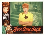 "Lucille Ball Rare & Desirable Signed 11"" x 14"" Lobby Card from ""Lover Come Back"" (BAS/Beckett)"