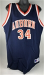 1980s Charles Barkley ULTRA RARE Game Worn & Signed Auburn Tigers College Jersey (Grey Flannel, Beckett & JSA LOAs)