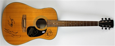 Crosby, Stills, Nash & Young RARE Group Signed Acoustic Guitar (JSA & PSA/DNA)