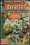 "Stan Lee Signed Original 1963 ""The Avengers"" #1 Comic Book (PSA/DNA)"