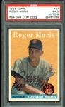 1958 Topps Roger Maris Signed Rookie Card with PSA/DNA Graded MINT 9 Autograph - None Graded Higher!
