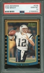 Tom Brady 2000 Bowman #236 Rookie Card PSA Graded GEM MINT 10!