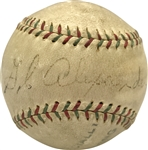 Extraordinarily Rare Grover Cleveland Alexander Single Signed Baseball - The First We Have Ever Offered! (PSA/DNA & JSA)