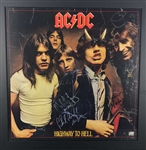 "AC/DC Vintage Group Signed 18"" x 18"" Highway To Hell Promotional Flat w/ Bon Scott! (Beckett)"