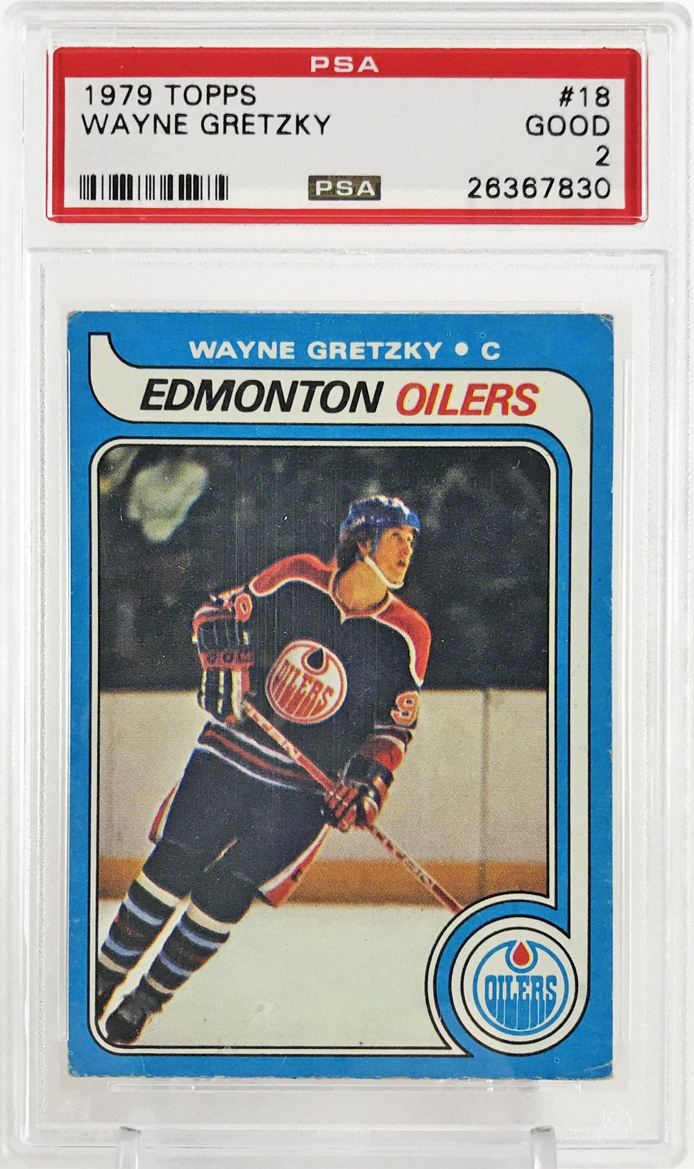 Lot Detail 1979 Topps Wayne Gretzky 18 Rookie Card Psa