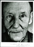 William S. Burroughs Signed & Dated B&W Portrait Photo (PSA/DNA)