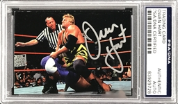 Owen Hart Rare Signed 1998 WWF Comic Images SuperStarz Autograph Insert Card (PSA/DNA Encapsulated)