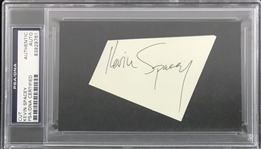 Kevin Spacey Rare Early Autograph Segment with Full Name Autograph (PSA/DNA Encapsulated)