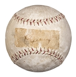 "Lou Gehrig Single Signed ""King of the Diamond"" Baseball on the Sweet Spot! (PSA/DNA)"