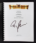 "Jerry Bruckheimer Signed ""The Pirates of the Caribbean"" Movie Script (BAS/Beckett)"
