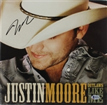 "Justin Moore Signed ""Outlaws Like Me"" Record Album (BAS/Beckett)"