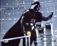 "Darth Vader: David Prowse & James Earl Jones Signed 8"" x 10"" Color Photo (BAS/Beckett)"