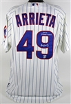 Jake Arrieta 2014 Game Worn & Signed Chicago Cubs Jersey - 9/16/14 vs. Cincinatti Reds - A One-Hit, Complete Game Victory! (MLB Authenticated)