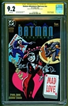 "Batman Adventures ""Mad Love"" Comic Book Signed by Harley Quinn Creators Bruce Timm & Paul Dini (CGC 9.2)"