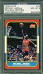 Michael Jordan ULTRA-RARE Signed 1986 Fleer Rookie Card PSA/DNA Graded NM-MT 8!