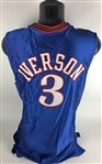 The Answer: Allen Iverson Game Worn/Used 2001/02 Philadelphia 76ers Jersey (Dave Miedema)