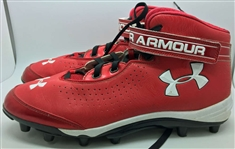 "Bryce Harper Game Used/Worn 2012 Rookie Cleats w/ ""Moms Pops"" Inscription! (Mears)"