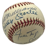 Original 11: 500 Home Run Club Signed OAL Baseball w/ Desirable Mantle/Williams Sweet Spot! (Beckett/BAS Guaranteed)