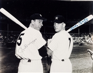 "Mickey Mantle & Joe DiMaggio Signed Over-Sized 16"" x 20"" Yankees Photograph (Beckett)"