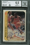 Michael Jordan Signed 1986 Fleer Sticker Card BGS Graded GEM MINT 10 Autograph!