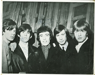 "The Rolling Stones ULTRA-RARE Over-Sized 11"" x 14"" Group Signed Vintage Photograph w/ Brian Jones! (PSA/DNA)"