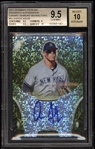 Incredible 2013 Bowman Sterling Aaron Judge Signed Canary Diamond Refractor - BGS 9.5/Auto 10 - 1 of 1!