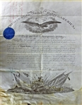 President Abraham Lincoln Signed & Civil War Dated Ornate Military Commission (1864)(PSA/DNA)